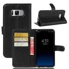 Cartera De Bolsillo PREMIUM negro para Samsung Galaxy S8 g950 G950F FUNDA