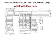 1999-2005 Four Winns 268 Vista Cruiser Swim Platform&Cockpit EVA Teak Decking