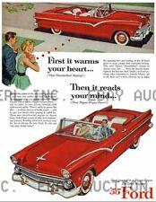 1955 Ford Thunderbird Vintage advertisment print ca 8 x 10 print prent poster