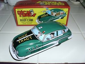 SCHYLLING CLASSIC TIN DICK TRACY RIOT CAR WITH AUTHENTIC SIREN SOUND 1:24 SCALE