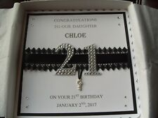 Handmade Personalised 21st OR 18th, Birthday Card with Decorated Box