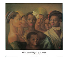 The Beauty of Color Tim Ashkar African American Print Poster 27x24.75