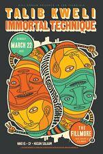 Talib Kweli Immortals Technique   F1329   Orig 2015 Concert Poster   Art: Scrojo