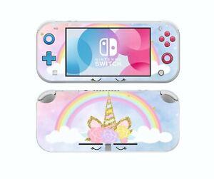 Nintendo Switch LITE UNICORN RAINBOW Sticker Game Skins Decals cover
