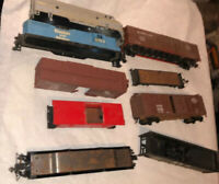 9 HO Parts Project Lot Locomotive Shells Cabbose Box Car Hopper Athearn+