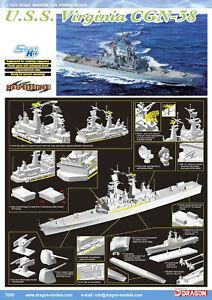 Dragon Plastic Model Kits #7090 1/700 U.S.S. Virginia CGN-38