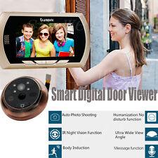 "4.3"" LCD Visual Monitor Door Peephole Peep Hole PIR Wireless Viewer Camera Video"