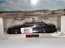 UT Model Chevy Caprice BREA Police California 1:18 Scale 1996 Diecast Patrol Car