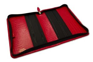 Deluxe A5 Zip Diary & Notebook Cover In High Quality UK Croc Grain Leather New