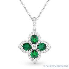 1.54ct 18k White Gold Diamond Pendant Necklace