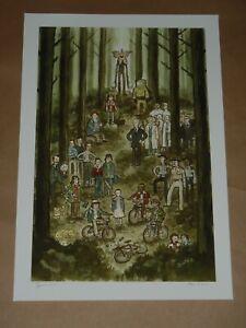 Stranger Things Scott C Campbell poster art print Great Showdowns Mondo