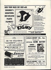 1949 Paper AD Al Capp's Kigmy Comic Strip Gene Autry Cowboy Merchandise