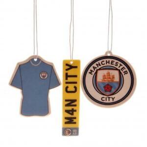 Manchester City Football Club 3Pk Triple Car Air Freshener Freshner MCFC Blues