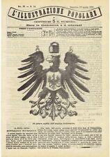 1871 Illustrazione Popolare: La Nuova Aquila dell'Impero Germanico (Germania)