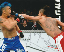 TERUTO ISHIHARA SIGNED AUTO'D 8X10 PHOTO UFC 196 FIGHT NIGHTROAD TO JAPAN B
