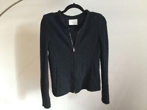 Iro Tweed Black zip Jacket size 40
