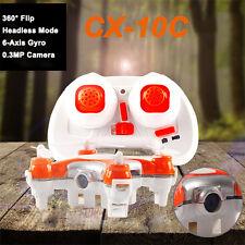 Cheerson CX-10C 2.4G 4CH 6-Axis RC Quadcopter RTF Mini Drone W/  Camera Toy HOT