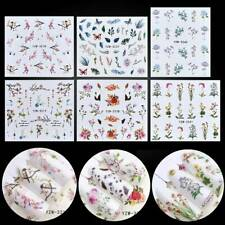 3D Nail Art Transfer Stickers 1 Sheets Flower Decals Manicure Decor Diy Tips