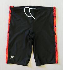 SPEEDO Swimsuit Jammer Athletic Training Cycling Compression Black Shorts Sz 38