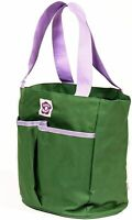 Briers Gardening Tool Holder Bag Shed Tidy - Green & Purple Flower Power #8A252