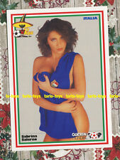 ITALIA - Sabrina Salerno - Guerin Mundial 1986 - postcard - cartolina calcio - B