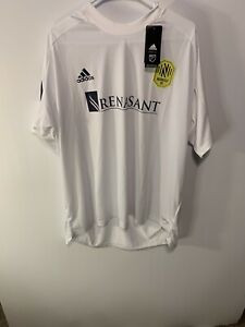 Nashville SC MLS Adidas Training Soccer Jersey White Men's Size 2XL GJ6078 NWT