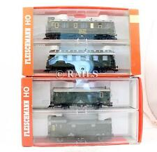 FLEISCHMANN 'HO' DR ACCIDENT & EMERGENCY 2 CAR SET + PAIR OF DB AUXILARY COACHES