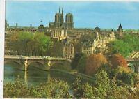 Paris Notre Dame Et La Cite France Postcard 091a