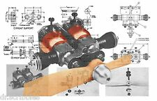 Build a  Cox Twin Bee Model Airplane Engine Plan & building notes