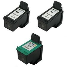 3x Refilled Ink Cartridges for 2x HP 96 + 1x HP 97 for HP Deskjet 6840 6940 6980