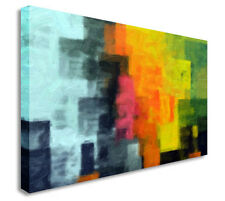 Abstract Squares Style Canvas Wall Art Picture Print