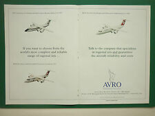 12/1993 PUB AVRO RJ85 CROSSAIR RJ70 BUSINESS EXPRESS RJ100 TURKISH AIRLINES AD