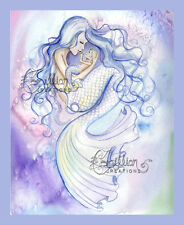 HOLD YOU FOREVER Mermaid Baby Mother print from Original Painting By Grimshaw