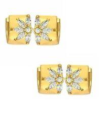 Ohr-Creole mit Diamanten aus Gelbgold