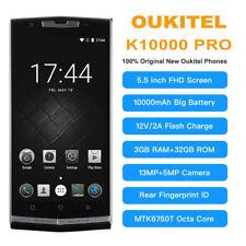 "5.5""OUKITEL K10000 Pro Android 8Core 3G+32GB 4G 2SIM 10000mAh Smartphone OTG GPS"