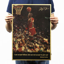 Basketball Superstar Michael Jordan Kraft Paper Posters/Never Give Up