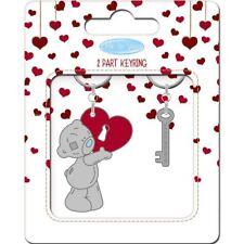 Me to You Heart 2 Part Keyring with Padlock & Key - Tatty Teddy Bear