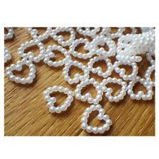 1000 Dekoherzen aus Perlen Perlenherzen Perlenherz Weiss Tischdeko Hochzeit