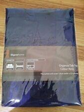Filigree Home BRAND Organza Tap Top Curtain Navy 120x221cm Drop Post
