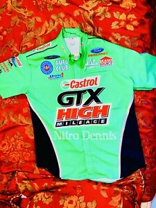 NHRA JOHN FORCE RACING Starting Line RACE WORN Crew SHIRT Jersey NITRO Funny Car