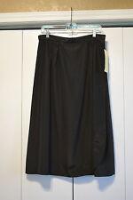 NWT Ladies Cali Basic Black Knee Length Skirt Size 34
