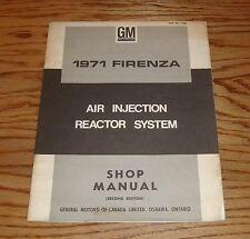 Original 1971 Firenza Air Injection Reactor System Shop Manual 71