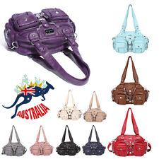 Fashion Women PU Leather Handbag Shoulder Bag Lady Travel Crossbody Bag Tote AU