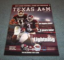Texas A&M vs Oklahoma State Football Game Program Magazine 2007