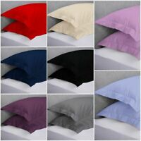 200 thread count 100% Cotton 2 x Oxford Pillow Cases Covers Pair Packing