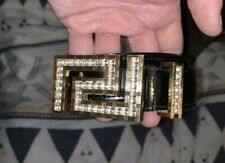 Versace Grecca Swarovski Crystal Belt Rare! Unique Popup Item