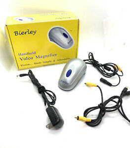 Bierley Hand Held Color HIGH Magnifier Mouse Low Vision Aid USE W/ RCA TV INPUT