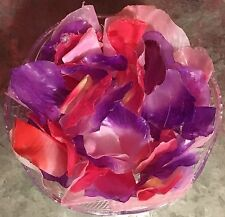 Pink & Violet Handmade Glycerin Silk Rose Petal Hand Soaps for Bathroom/Kitchen