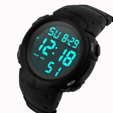 Waterproof Men's Watch Boy LCD Digital Stopwatch Date Rubber Sport Wrist Watch