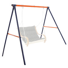 Metal Frame Swing Set Stand Fun Play Chair Children Have Fun Outdoor Yard